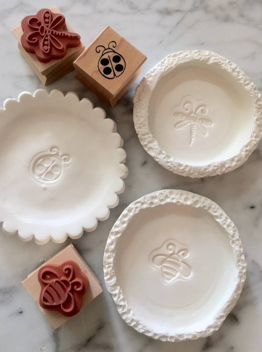 Use cute, simple animals stamps for kids trays.